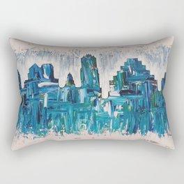 Aqua Austin Skyline Rectangular Pillow