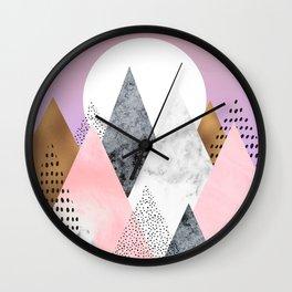Blush Mountain Wall Clock