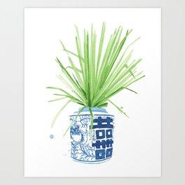 Ginger Jar + Fan Palm Kunstdrucke