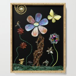 Happy Day in the Garden, Jewelry Scanography Serving Tray