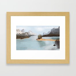 Lakeside Landscape Framed Art Print