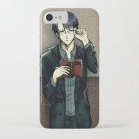 levi iPhone & iPod Cases featuring Levi/Eren Cheek kisses by hakorin