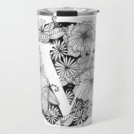 Flower V Travel Mug