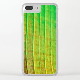Linear Leaf Clear iPhone Case