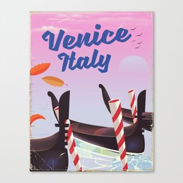 Venice Italy Travel poster Canvas Print