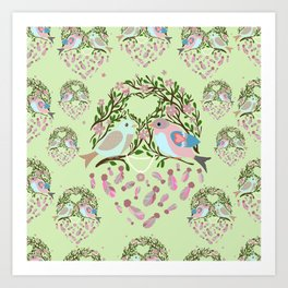 Love is in the air Spring Birds 06 Art Print