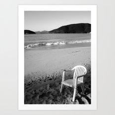 Chair in Paradise Art Print