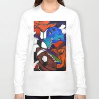 sports Long Sleeve T-shirts featuring Sports Fans by Jake Dorr