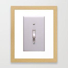 cellphone switchplate Framed Art Print