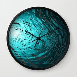 Complex Spiral-Aqua Wall Clock