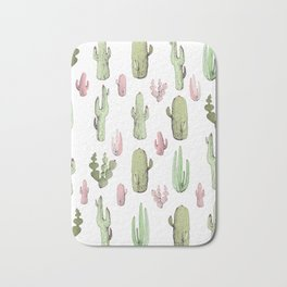 cactus pink and green Bath Mat