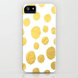 Gold Polka Art iPhone Case
