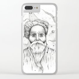 Aim for the moon, land in the stars Clear iPhone Case