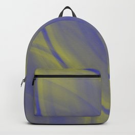 Elliptical volumetric straw curved lines with delicate ovals of pastel ceramic rings.  Backpack