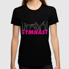 Top Fun Gymnast Back Handspring Outline Gift Design T-shirt