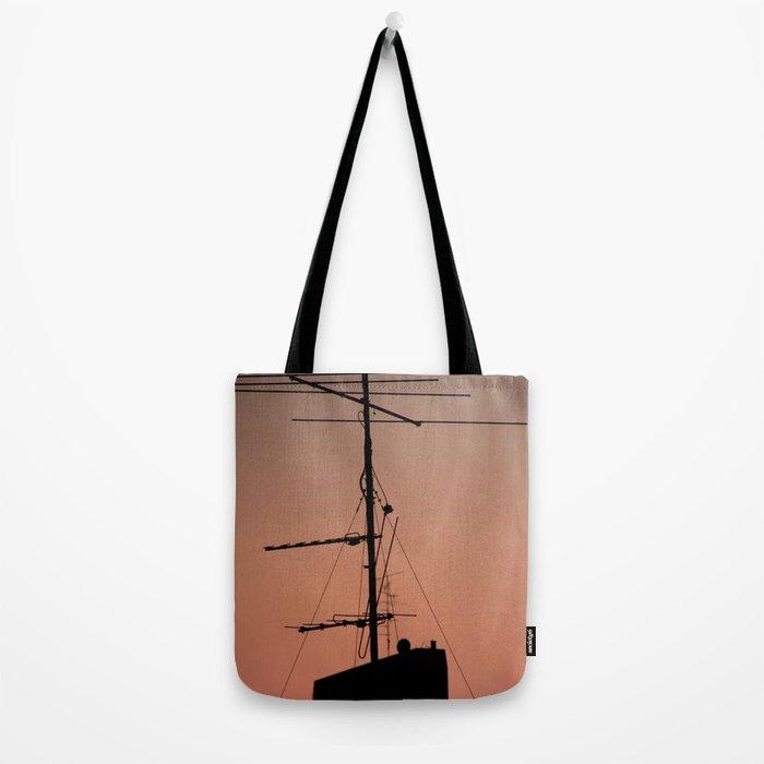 Antenna in its natural habitat Tote Bag