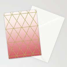 Rose Gold Geometric Stationery Cards