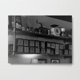 COFFEE SHOP TINS Metal Print