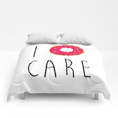 I Donut Care Funny Quote Comforters