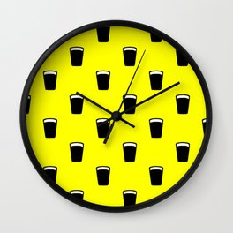 pint of beer pattern Wall Clock