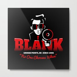 Mr Blank (Grosse Pointe Blank) Metal Print