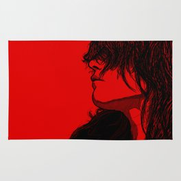 Smoking (Black on Red Variant) Rug