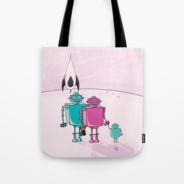 Robot family vacation Tote Bag