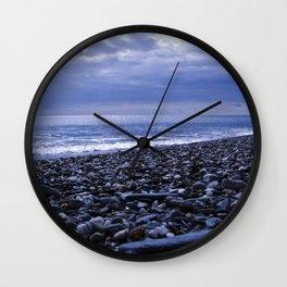 BLUE BEACH of SICILY Wall Clock