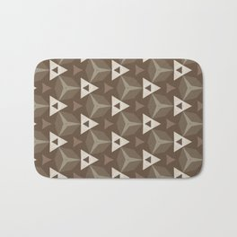 Upleft: digital abstract pattern Bath Mat