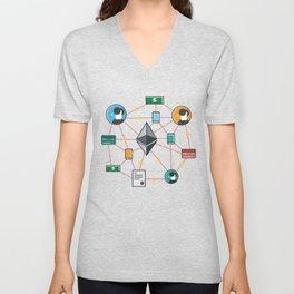 Ethereum Transactions Unisex V-Neck