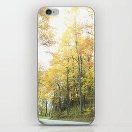 Autumn Mountain Road iPhone Skin