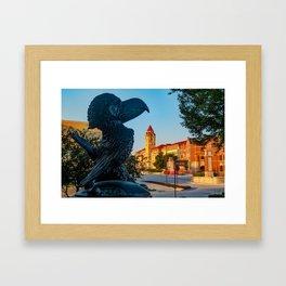 Kansas University Skyline along Jayhawk Boulevard Framed Art Print