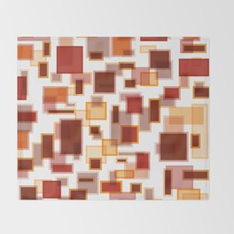 Red Abstract Rectangles Throw Blanket