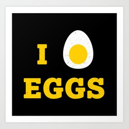 I heart Eggs Art Print