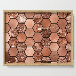 Rose gold hexaglam Serving Tray