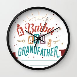 A Barber And A Grandfather Wall Clock