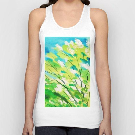 Tree in bloom ❤ Unisex Tank Top