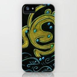 Golden tree frog (Coqui dorado) iPhone Case