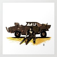 mad max Art Prints featuring MAD MAX by Gregory Casares