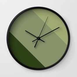 Pine Moss Sage Diagonal  Wall Clock