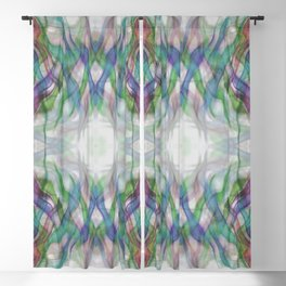 Flames Of Light Muted Abstract Blackout Curtain