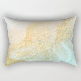 Marble melt - gold Rectangular Pillow