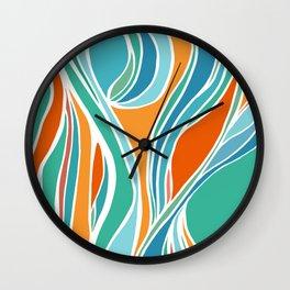 Campfire Abstract Wall Clock