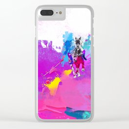 polo abstract Clear iPhone Case