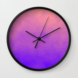 Pink and Purple Ombre - Swirly Wall Clock