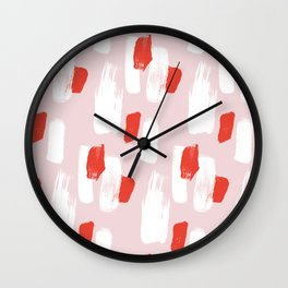 Colorful Brush Strokes Pattern Wall Clock