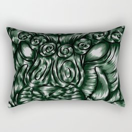 Chinese Jade Lion Rectangular Pillow