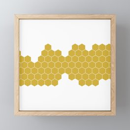Honeycomb White Framed Mini Art Print