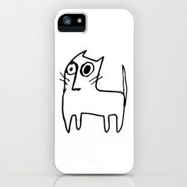 A mangy, miffed and slightly damaged cat iPhone Case