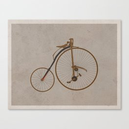 Antique High Wheel Bicycle Canvas Print